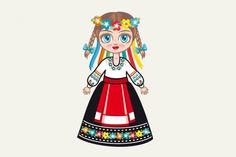 The girl in Ukrainian dress. Historical clothes. Ukraine. By Zoya Miller