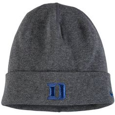 3db74f2214c Men s Nike Heathered Charcoal Duke Blue Devils Sideline Training Cuffed  Knit Hat Duke Blue Devils