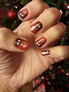 Reindeer Christmas nails