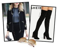"""Sheinside VIII/9"" by ruza66-c ❤ liked on Polyvore featuring vintage, Sheinside and shein"