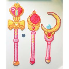 Moon wands - Sailor Moon perler beads by Brittany Saturn