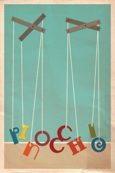 Pinocchio poster design... clever!
