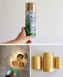 Resultado de imagen para latas doradas con flores