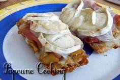 Tartine au jambon cru et chèvre - Nos délicieuses petites recettes disponible sur le site www.papoune-cooking.com