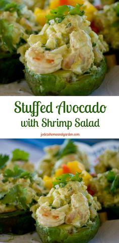 Stuffed Avocado with Shrimp Salad