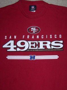 San Francisco 49ERs NFL Football Shirt Adult XL Red NFC San Fran Niners CA #NFLTeamApparel #SanFrancisco49ers
