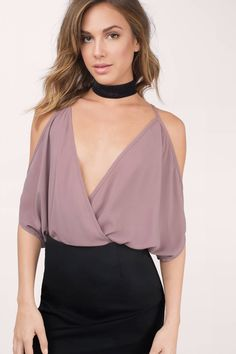Think Twice Cold Shoulder Bodysuit at Tobi.com #shoptobi