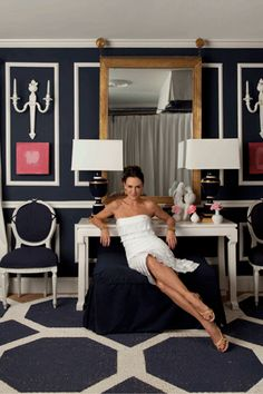 Love the navy and white room - Mary McDonald's Favorite Things