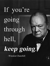 Find great deals for Metal Sign inspirational Winston Churchill quote tin decorative wall plaque gift. Shop with confidence on eBay!