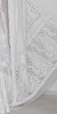 White Designer Hand Embroidered Lucknowi Chikankari Saree (With Blouse - Georgette) 14318 , Buy Georgette Chikankari Sarees online, Pure Georgette Chikankari Sarees, Trendy Georgette Chikankari Sarees ,Exclusive Collection , online shopping india, sarees , sweets, cameras, shoes, watches, appliances, apparel, sweets online in india | www.maanacreation.com Indian Embroidery, White Embroidery, Saree Shopping, Online Dress Shopping, Pakistani Dress Design, Pakistani Dresses, Sweets Online, Indian Look, Desi Clothes
