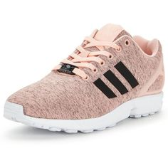 Adidas Originals Zx Flux (605 HRK) ❤ liked on Polyvore featuring shoes, adidas originals shoes, fleece-lined shoes and adidas originals