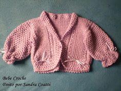 BEBE CROCHÊ: Calça de trico
