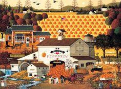 Buffalo Games Charles Wysocki: Pumpkin Hollow - 1000 Piece Jigsaw Puzzle by…