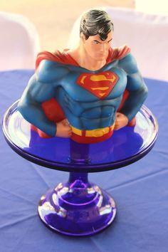 Vintage Superhero themed birthday party