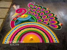 Rangoli Designs Simple Diwali, Rangoli Designs Latest, Rangoli Designs Flower, Free Hand Rangoli Design, Rangoli Patterns, Small Rangoli Design, Rangoli Border Designs, Rangoli Ideas, Colorful Rangoli Designs