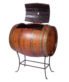 RECYCLED WINE BARREL COOLER | Recycled Wine Barrel Cooler - Practical, Watertight White Oak Container is Functional, Handmade, Rustic Furniture | UncommonGoods For Tom or @Gail Wheltle