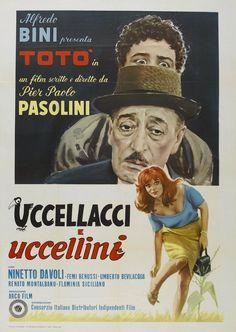 Des oiseaux petits et grands / Uccellacci e uccellini de Pier Paolo PASOLINI (1966)
