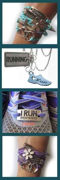 Runningonthewall is now offering a new collection of running jewelry including running bracelet, running watches, running necklace and running shoe tag. The price are unbulievably inexpensive! You can also choose from tons of color. They also have for hal Running Gifts, Running Gear, Running Workouts, Running Apparel, Running Shoes, Running Jewelry, Running Accessories, Marathon Motivation, Running Motivation