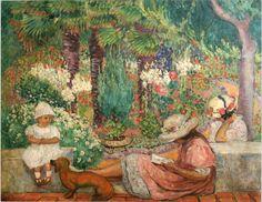 The Athenaeum - In the Palms at Sainte Maxime (Henri Lebasque - 1913)