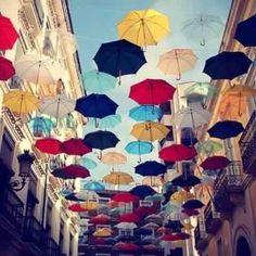 nice!... flying umbrellas
