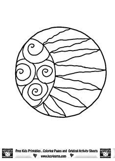 Simple Mandala Coloring Pages | Sun Mandala Coloring Pages, Lucy Learns Free Sun Mandala Art Coloring ...