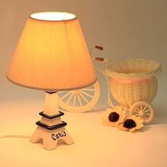 Modern Romantic DIY Eiffel Tower Child Bedroom Decoration Table Lamps