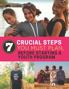 Get your FREE copy of the 7 Crucial Steps You Must Plan, Before Starting a Youth Program Youth Programs, You Must, Programming, Wellness, How To Plan, Free, Computer Programming, Coding