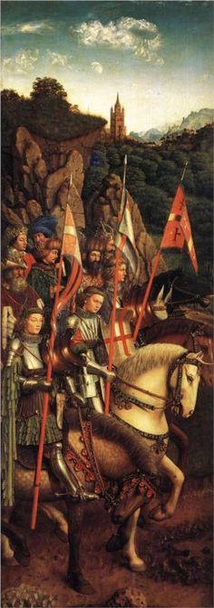 Jan van Eyck, Soldiers of Christ, c. 1427 - 1430