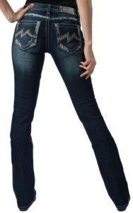 Miss Me Women's Dark Wash Denim Brand Discharge Signature M Boot Cut Jean   Cavender's