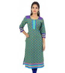 Product details : http://www.sirnmaam.com/women/clothing/kurtis-ladies/blue-cotton-kurti-snm-1061/