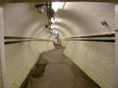 Passageway in early 2001 London Underground, Tours, Abandoned, Image