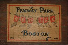 Fenway Park Boston Red Sox Brick Wall Art
