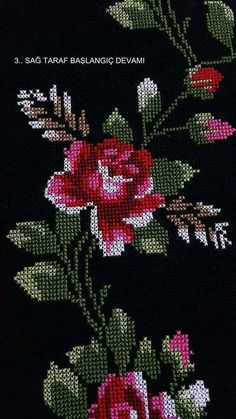 Items similar to Embroidery design a bouquet with roses cross-stitch on Etsy Funny Cross Stitch Patterns, Cross Stitch Designs, Cross Stitch Heart, Cross Stitch Flowers, Hand Embroidery Designs, Embroidery Patterns, Seed Bead Flowers, Embroidered Flowers, Cross Stitch Embroidery