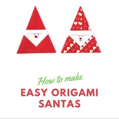 EASY DIY ORIGAMI SANTA Learn how to make an Easy Origami Santa. Fold a simple piece of paper into the cutest Father Christmas. A fun and simple paper project to keep both kids and adults busy over the Christmas holidays Christmas Family Feud, Christmas Arts And Crafts, Christmas Origami, Xmas Crafts, Kids Christmas, Handmade Christmas, Christmas Cards, Father Christmas, Santa Origami