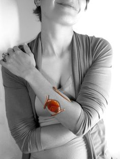 Sole d'Oriente  Solid copper bangle rigid by daganigioielli, $259.00