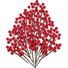 Pack of 12 Artificial Holly /& Gold Berry Pick x 20cm Christmas Florist Wreath