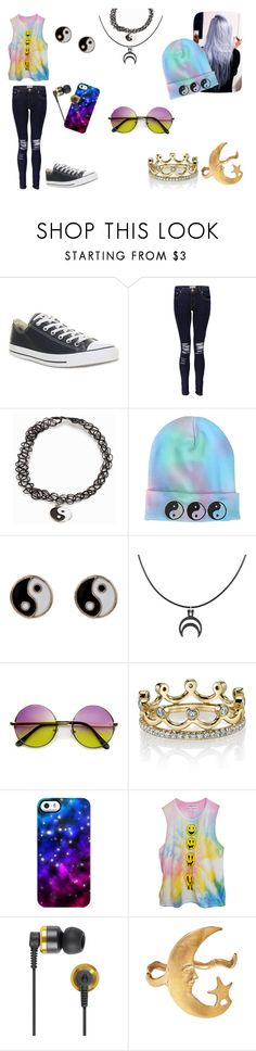 """""""Untitled #12"""" by bethie3313 ❤ liked on Polyvore featuring Converse, Boohoo, JFR, Accessorize, Erica Courtney, Uncommon, High Heels Suicide, Nixon and Alkemie"""