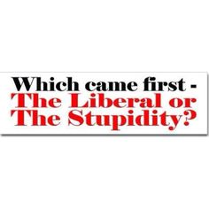 My guess stupidity...out of stupidity, liberals came into being.