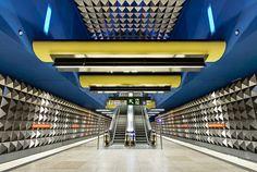 A beautiful station in the Munich U-Bahn