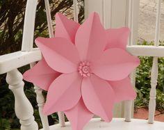 40 cm gigante flor de papel Magnolia creado de tarjeta perla