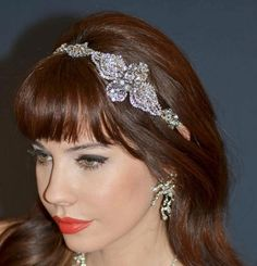 Michelle - Stunning Designer Crystal Stretch Headband - SALE Zoom