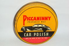 Nice Old Litho Piccaninny Car Auto Wax Polish Not Motor Oil Advertising Tin Can