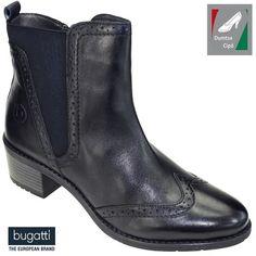 Bugatti női bőr bokacsizma 411-56234-4100-4100 sötétkék