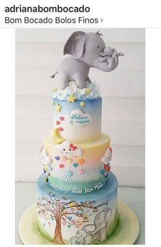Gorgeous Cakes, Pretty Cakes, Cute Cakes, Fondant Cakes, Cupcake Cakes, Elephant Cakes, Animal Cakes, Painted Cakes, Unique Cakes