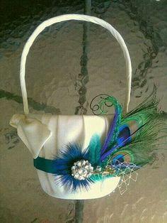 Peacock flower pail