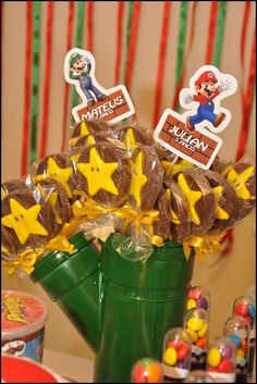 cano Super Mario Bros, Super Mario Birthday, Mario Birthday Party, Super Mario Party, 10th Birthday Parties, Bolo Do Mario, Bolo Super Mario, Super Mario World, Mario Kart