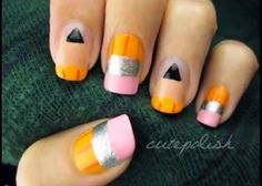 8 Fun Back-to-School Nail Art Designs for idiots.