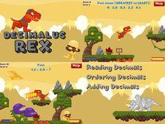 Decimauls Rex (Math Game): Reading Decimals, Ordering Decimals, and Adding Decimals. RoomRecess.com