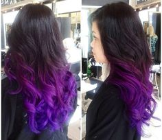 Brunette/purple ombré