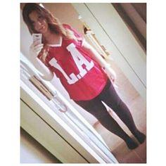 Summer OOTD #dress #jersey #la #summer #leggins #losangeles #23 #ombrehair